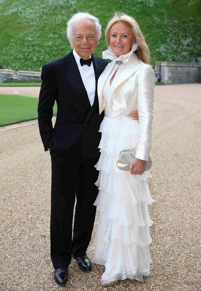 Designer Ralph Lauren poses for pictures along with his wife Ricky Anne. ( Source: Reuters )