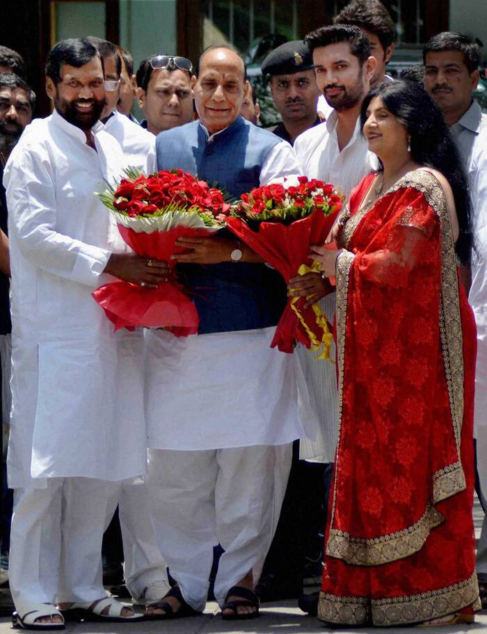 Ram Vilas Paswan meets BJP chief Rajnath Singh