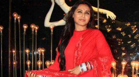 Rani Mukerji glowed in a beautiful red creation by her favourite designer, Sabyasachi.