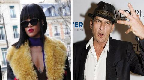 Rihanna has hit back at Charlie Sheen via Twitter over an apparent snub. (Source: AP)
