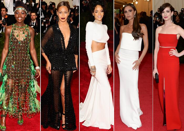 Fashion's most glamorous night, the annual Met Gala, hosted by Vogue editor-in-chief Anna Wintour took place at the Metropolitan Museum Of Art.<br /><br /> Celebrities including Oscar winning Lupita N'yongo, singer Beyonce, designer Victoria Beckham, Anne Hathaway and Rihanna flaunted their very best on the red carpet. (AP)