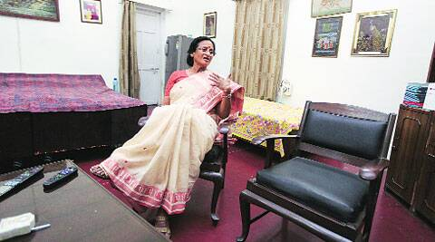 Rita Bahuguna at her Lucknow home. ( Express photo by Vishal Srivastav )