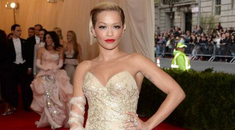 Rita Ora: I think Cannes is a door that I think some people should always open. (Source: AP)