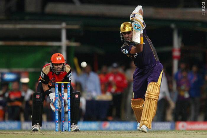 Robin Uthappa, with eight consecutive scores of 40 or more in T20 matches, again showed his class and played a 30-ball 41, his ninth 40-plus score. (Source: BCCI/IPL)