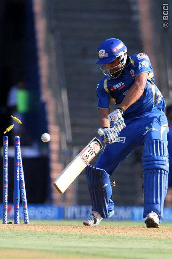 Mumbai Indians captain Rohit Sharma looked in good nick during his 21-ball stay at the crease. Rohit scored 30 runs and struck four boundaries before being castled off Jaidev Unadkat. (Source: IPL/BCCI)