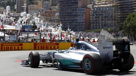 Mercedes driver Nico Rosberg drives during the qualifying session of the Monaco F1 Grand Prix in Monaco on Saturday. (Reuters)