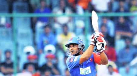 Delhi's Kedar Jadhav remained unbeaten and made 26 off 15 balls against Kolkata. (Ravi Kanojia)
