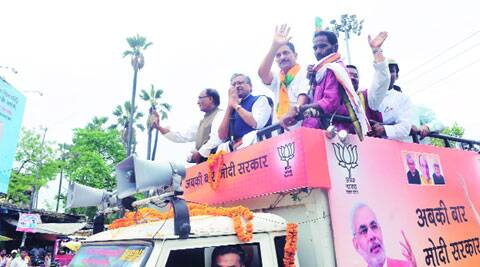Rajiv Rudy, accompanied by Sushil Modi.