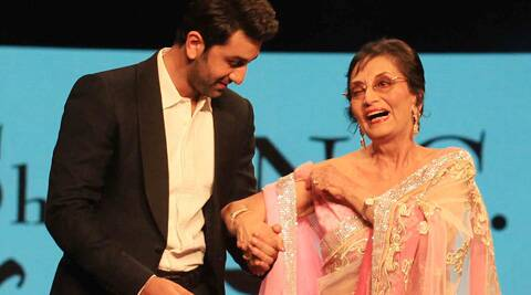 Veteran actress Sadhana finally came out of hiding and walked the ramp with Ranbir Kapoor.
