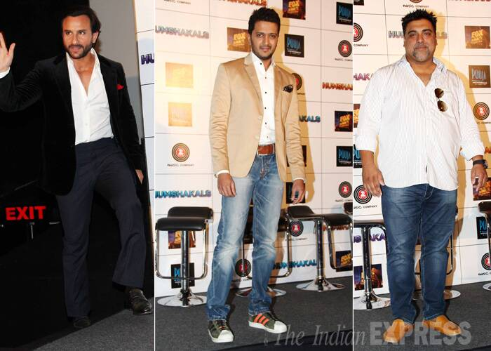 The three main actors – Saif Ali Khan, Riteish Deshmukh and Ram Kapoor will be seen playing triple roles in the film. (Source: Varinder Chawla)