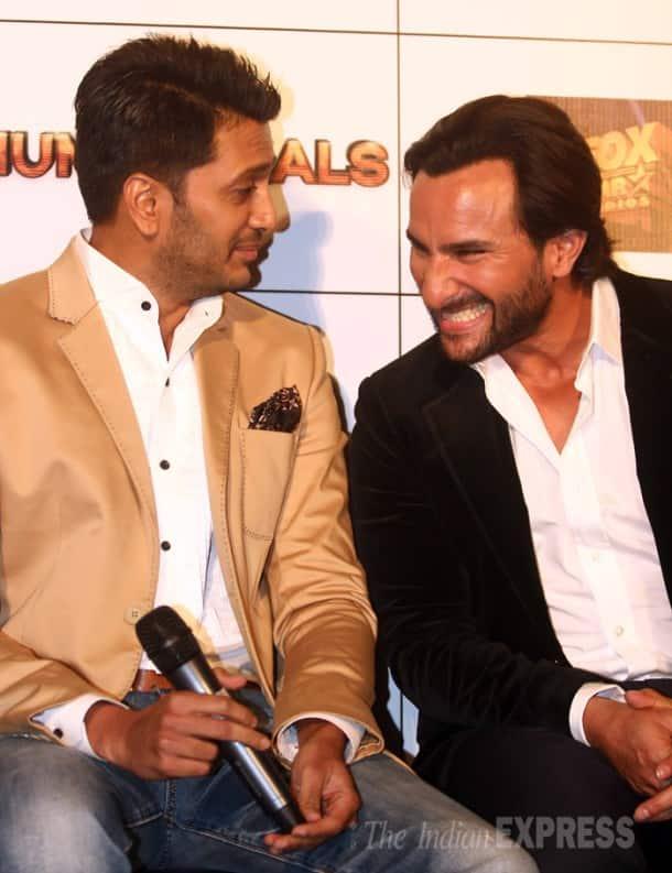 Saif Ali Khan, Riteish Deshmukh's bromance at 'Humshakals' trailer launch