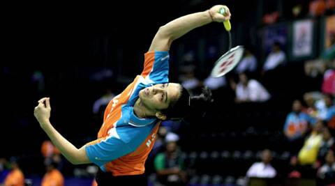 Saina Nehwal led from the front with a 21-9, 21-10 win over Hong Kong's Pui Yin Yip. (IE Photo: Ravi Kanojia)