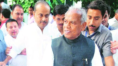 Jitan Ram Manjhi after being sworn in as Bihar CM at Governor House in Patna