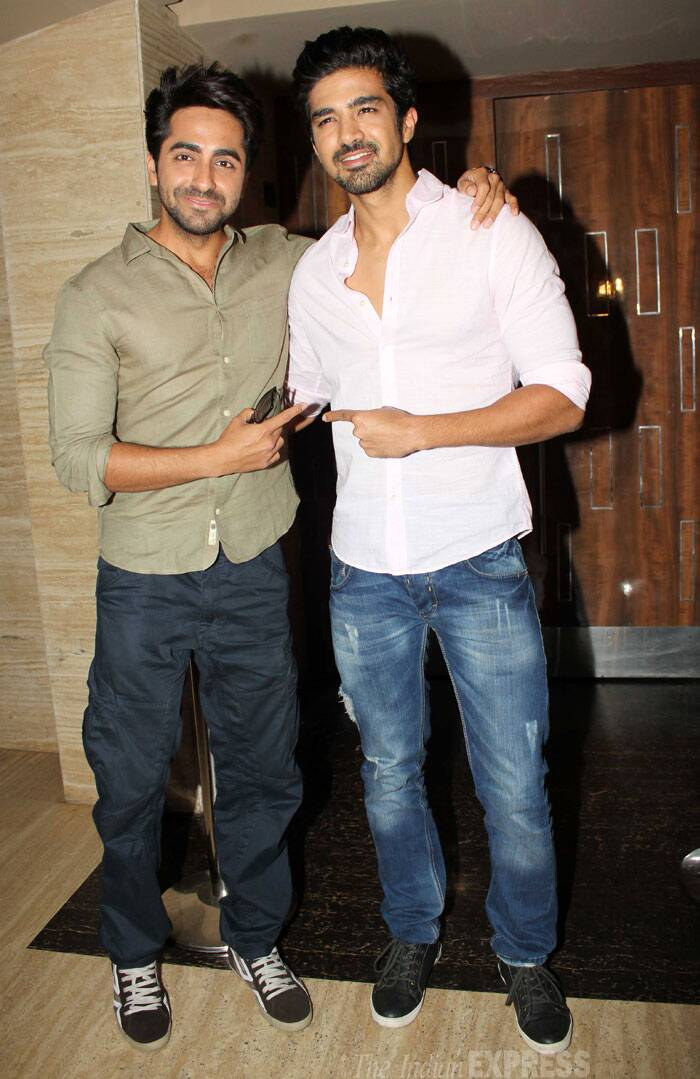 Actor Ayushmann Khurrana was also present to support his fellow actor. (Photo: Varinder Chawla)