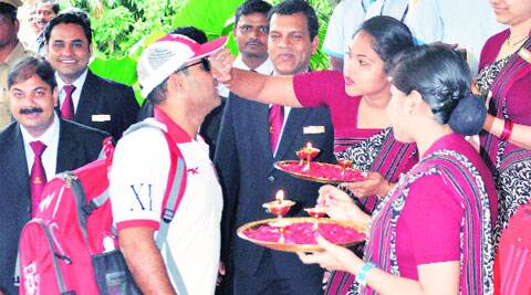 KXIP's Sehwag in Cuttack on Saturday. PTI