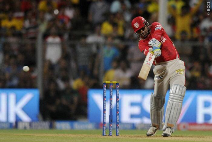 Virender Sehwag went all guns blazing against a hapless Chennai Super Kings bowling attack. He reached his half-century in just 21 balls. (Source: IPL/BCCI)