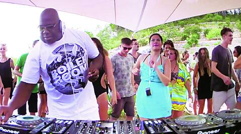 Carl Cox in Ibiza playing on Boiler Room.