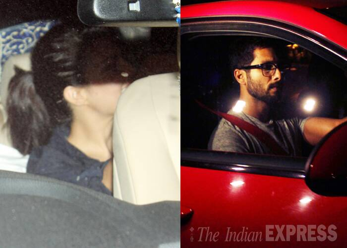 Shahid Kapoor was spotted leaving a high end restaurant in Mumbai on Monday (May 12) night with Sri Lankan beauty Jacqueline Fernandez. We wonder where was his rumoured girlfriend Sonakshi? (source: Varinder Chawla)