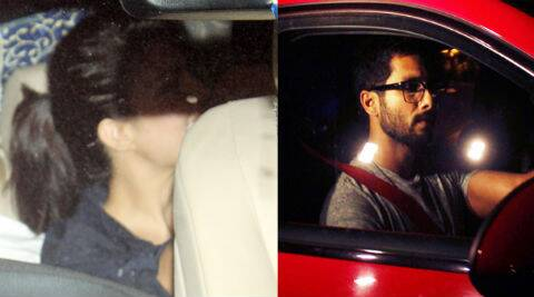 Shahid Kapoor took to the wheel of his fancy ride, while Jacqueline slipped into the backseat of her own car.