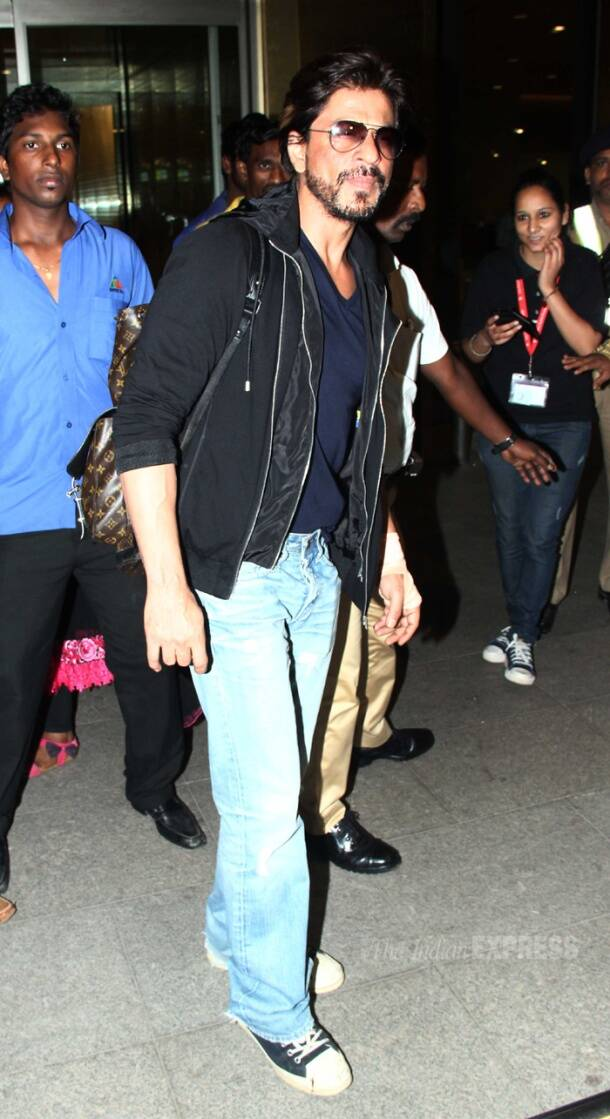 IPL 7's UAE leg over,  Shah Rukh is back in town
