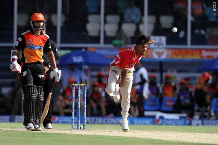 Kings XI Punjab's premier bowler Sandeep Sharma had his worst outing of the ongoing Pepsi IPL tournament against Sunrisers Hyderabad on Wednesday. Sandeep bled 65 runs in his four overs and took just one wicket. Owing to Punjab's shoddy display in the field, Sunrisers Hyderabad managed to score a massive 205/5 in their 20 overs.  (Photo: IPL/BCCI)