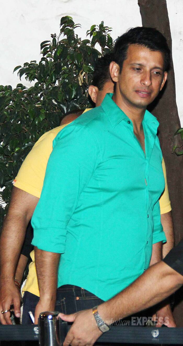 Sharman Joshi opted for a bright coloured shirt for the night out. (Photo: Varinder Chawla)
