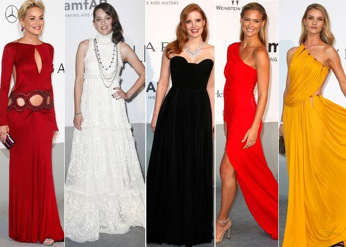 Divas from around the world including actresses Sharon Stone, Marion Cotillard, singer Kylie Minogue and socialite Paris Hilton went ultra-glam as they attended amfAR's Cinema Against AIDS Gala during the 67th Cannes Film Festival at Hotel du Cap-Eden-Roc on Thursday (May 22) in Cap d'Antibes, France. (Reuters)