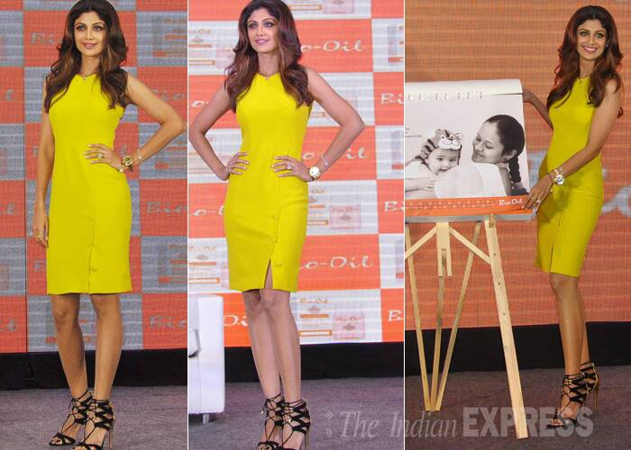 "The actress showed off her fabulous body in a sunshine coloured Versace dress paired with Aquazzura sandals. ""Love this vibrant Versace dress,great fr the summer. Thanku @manavganwani,"" she posted. (Photo: Varinder Chawla)"