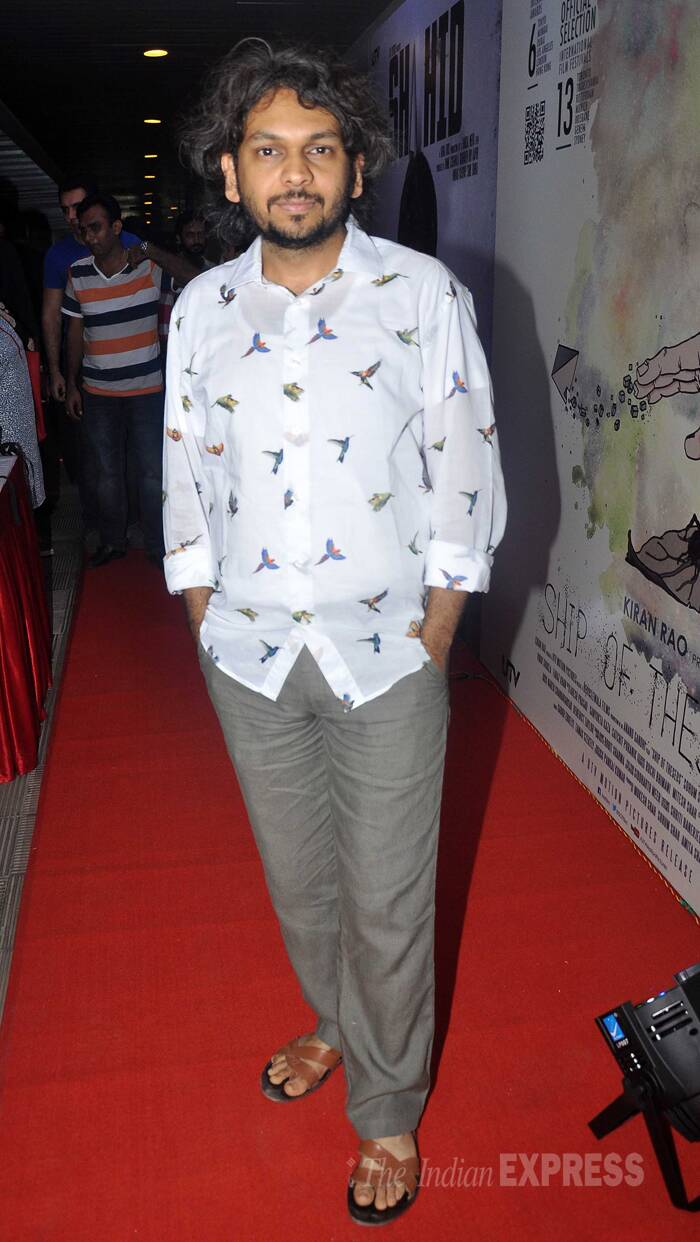 Director of 'Ship of Theseus', Anand Gandhi poses for pictures in a bird-print shirt and pants. ( Source: Varinder Chawla )
