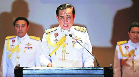 Thai Army chief General Prayuth Chan-ocha addresses reporters in Bangkok Monday. ( Source: Reuters )