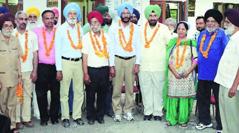 The winning team in Ludhiana on Sunday. (Gurmeet Singh)