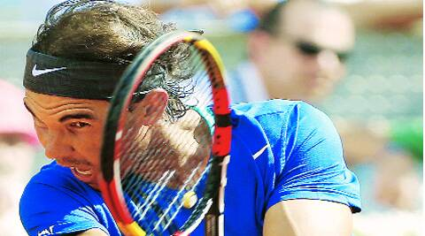 Nadal uses Babolat racquets
