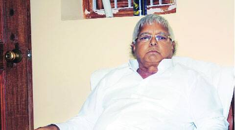 Lalu Prasad at his Patna home.