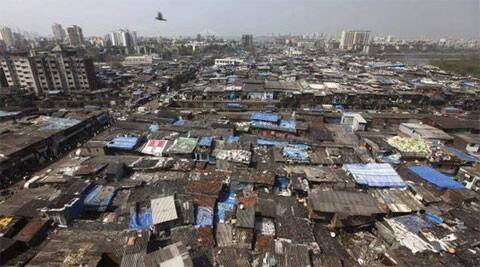Slums in Dharavi, Mumbai.