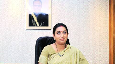 "HRD Minister Smriti Irani described the opposition as ""regrettable"" and made it clear that the students' participation in the interaction is ""voluntary"". (Source: AP photo)"