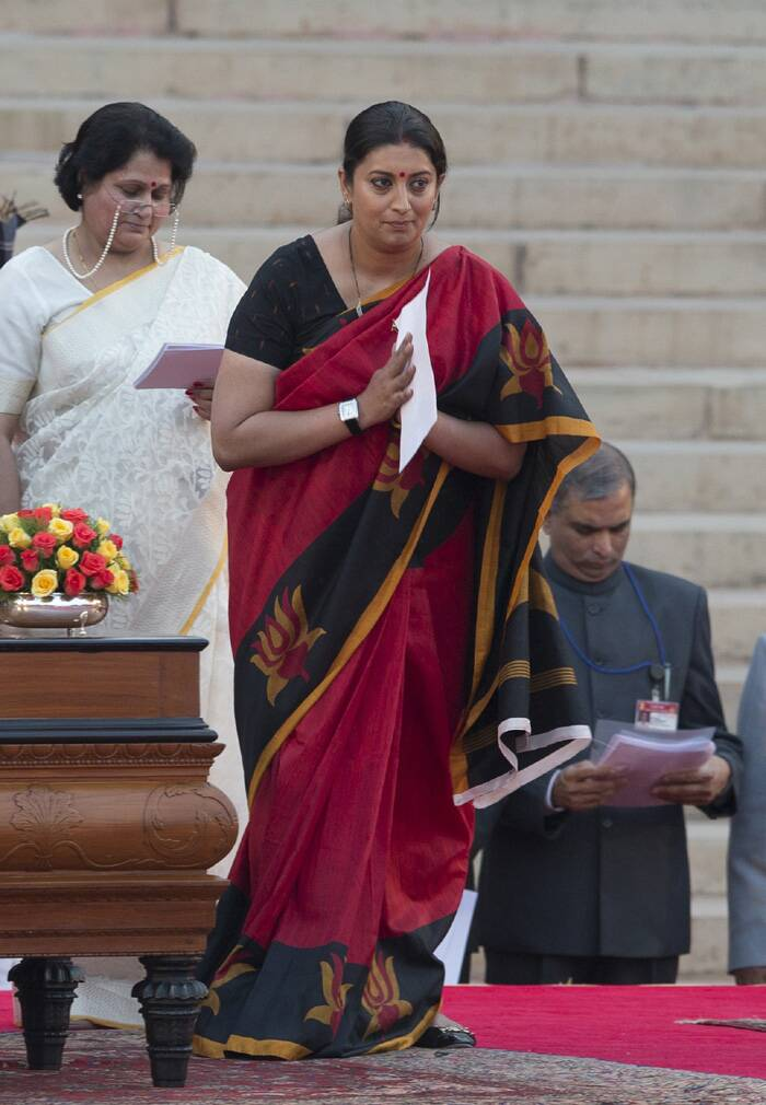 <b>Smriti Irani</b>, 38<br />Khatri married to a Parsi<br /><br /><b>This Election</b>: The first-time Rajya Sabha MP from Gujarat lost to Rahul Gandhi in Amethi<br /><br /><b>Journey To Cabinet</b>: From being one of the most popular TV actresses, she has made strides in the party by taking on rival giants. The BJP chose Irani to contest against Kapil Sibal in 2009 and against Rahul this time. Former head of BJP Mahila Morcha, she is now a party vice-president.<br /><br /><b>Previous Ministerial Record</b>: None