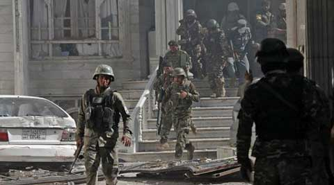 Three gunmen were killed, one by ITBP (Indo-Tibetan Border Police) and two by Afghan police. ( Source: AP photo )