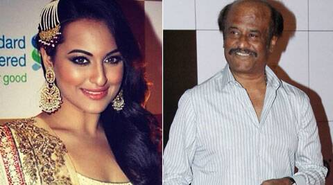 Sonakshi Sinha and Rajinikanth start shooting for 'Lingaa'.