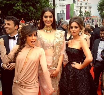 Cannes 2014: Sonam Kapoor impresses in Anamika Khanna dress, strapless Ellie Saab gown