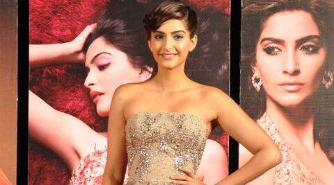 Sonam Kapoor looked feminine and pretty in a sparkly Elie Saab couture dress.