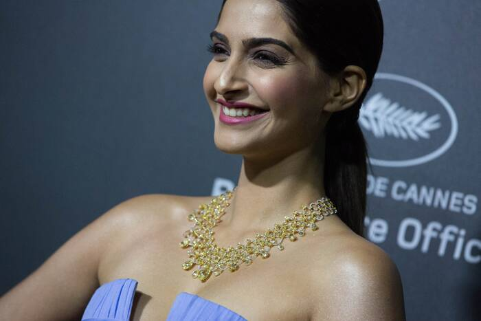 Cannes 2014: Sonam Kapoor impresses in Anamika Khanna dress, strapless Ellie Saab gown