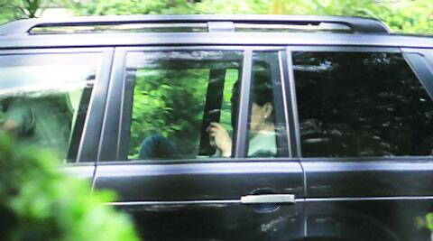 Congress president Sonia Gandhi and vice-president Rahul Gandhi leave the Prime Minister's residence after the party core group meeting in New Delhi on Monday.