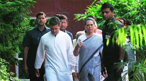 Sonia and Rahul head to address the media in Delhi Friday.