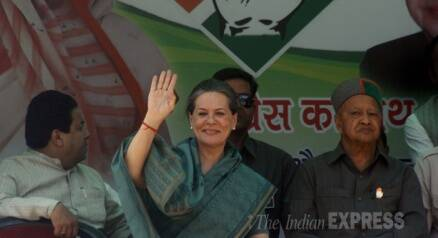 Sonia Gandhi's election rally in Kullu