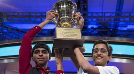 Indian-Americans boys declared co-champions of SpellingBee