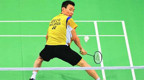 Malaysia's Lee Chong Wei returns a shot to South Korea's Son Wan-ho during their men's singles match in the Thomas Cupin New Delhi.  ( Source: Reuters )