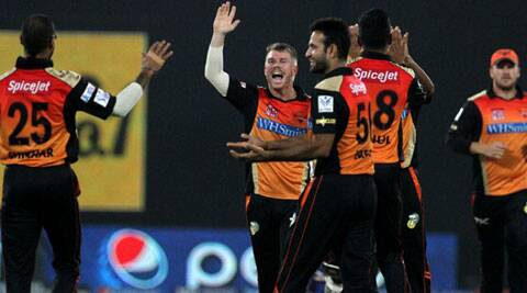 The Sunrisers Hyderabad bowlers were outclassed by Mumbai Indians' Ambati Rayudu and Lendl Simmons, who posted brisk half-centuries to guide their team to an improbable win. (IPL/BCCI)
