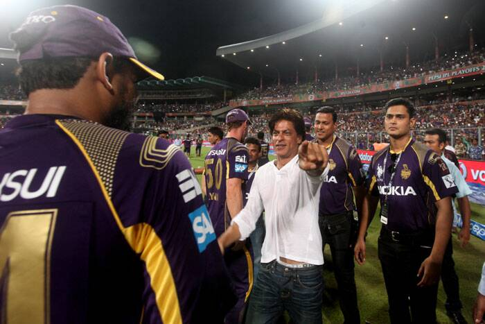 SRK made up for missing the Pathan special. KKR owe their play-off berth to Yusuf Pathan, who played the innings of IPL 2014 against Sunrisers Hyderabad (Source: Express Photo by Partha Paul)