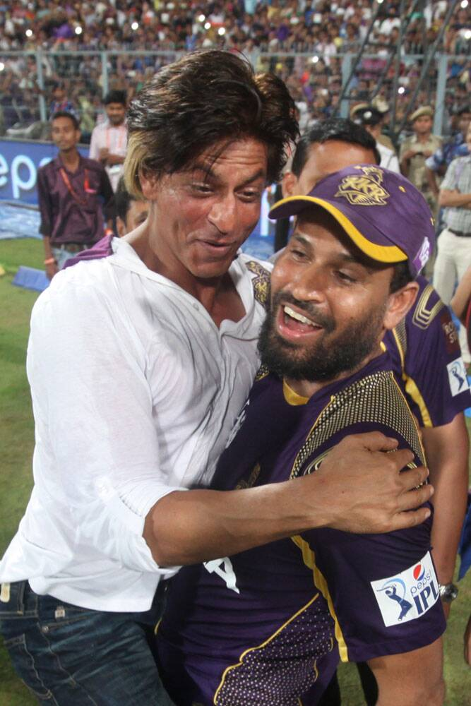 Both KKR and Shah Rukh would expect the Big Man Pathan to deliver in the final, and help the side win their second IPL title (Source: Express Photo by Partha Paul)