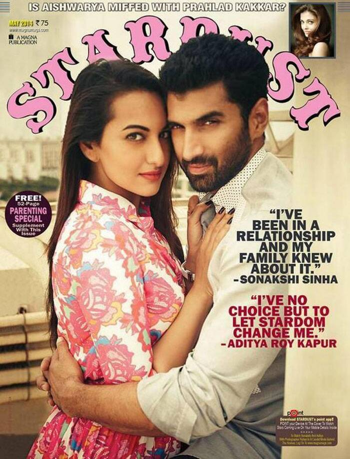 Desi belle Sonakshi Sinha looks totally different in her latest shoot with Aditya Roy Kapur. Never seen before on screen, the duo make an interesting pair. Sonakshi looks stylish in separates from the Henry Holland for Koovs collection while Aditya is handsome as ever.
